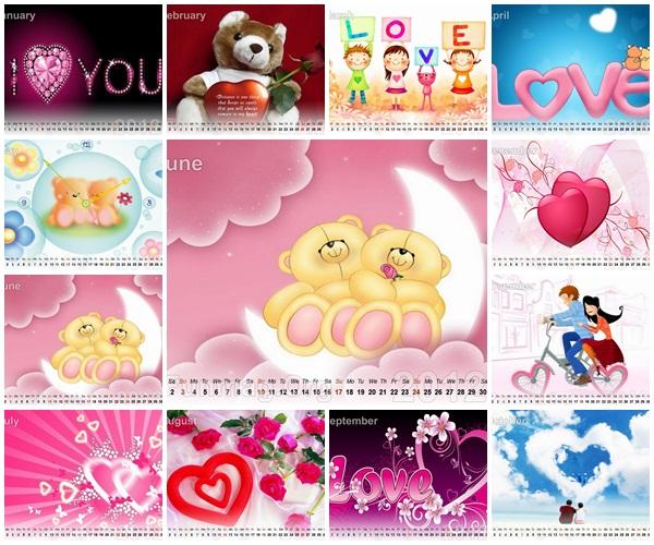 love-calendar-2012