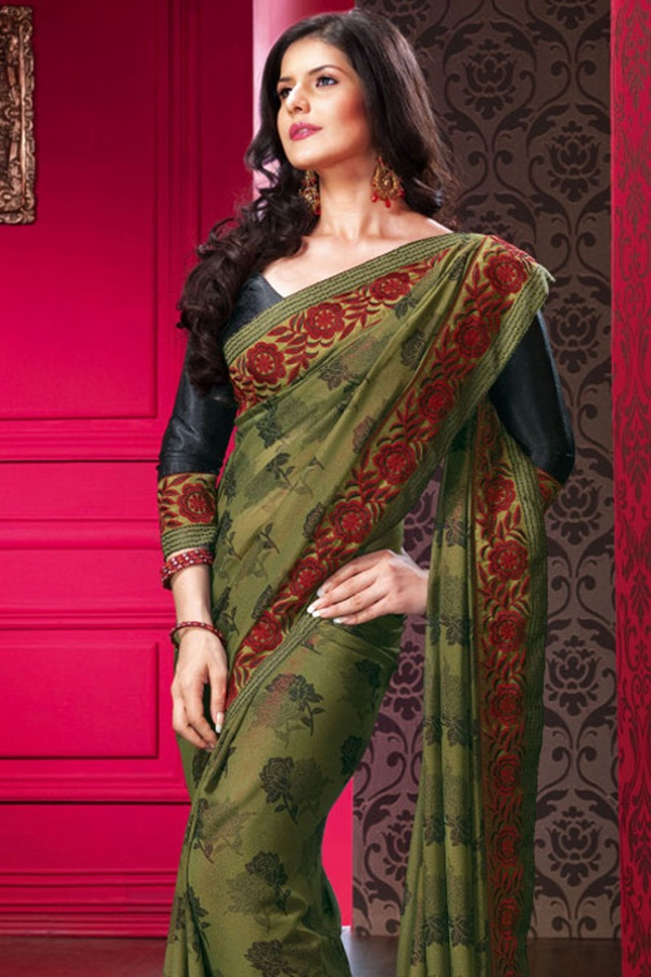 zarine-khan-glorious-saree-collection- (2)