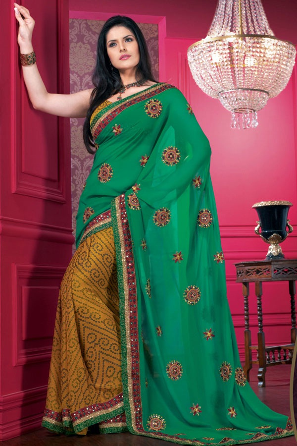 zarine-khan-glorious-saree-collection- (5)