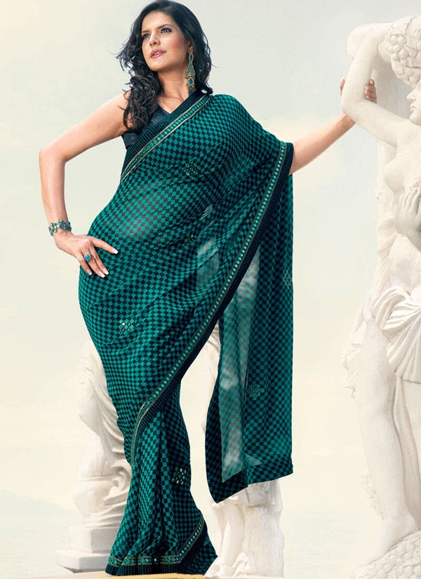 zarine-khan-glorious-saree-collection- (8)