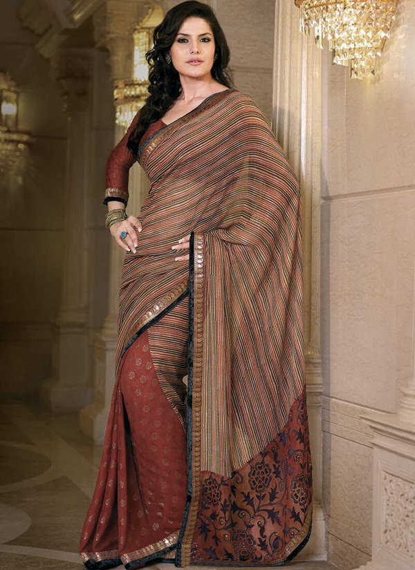 zarine-khan-glorious-saree-collection- (12)