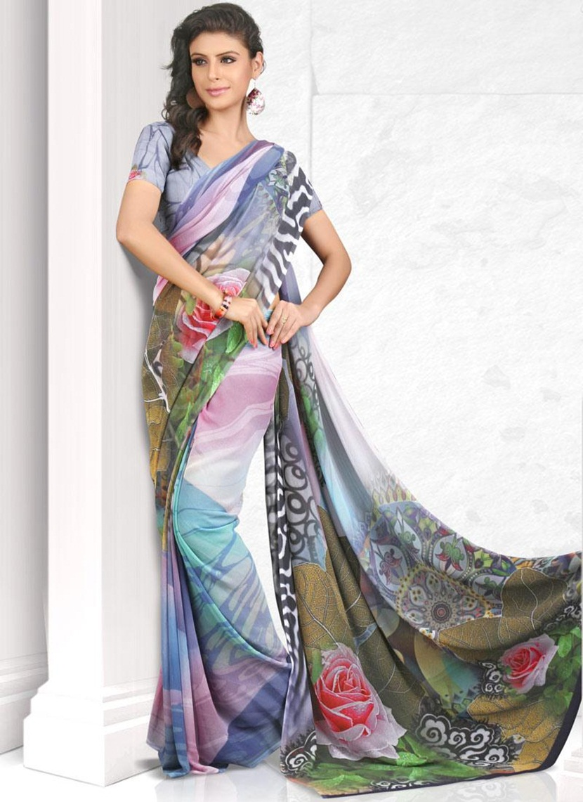 printed-saree-designs-for-summer- (5)