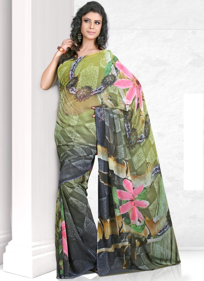 printed-saree-designs-for-summer- (9)