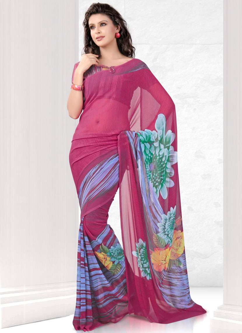 printed-saree-designs-for-summer- (14)