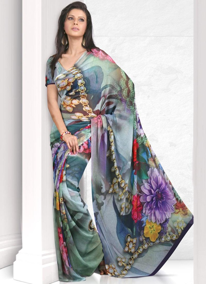 printed-saree-designs-for-summer- (17)
