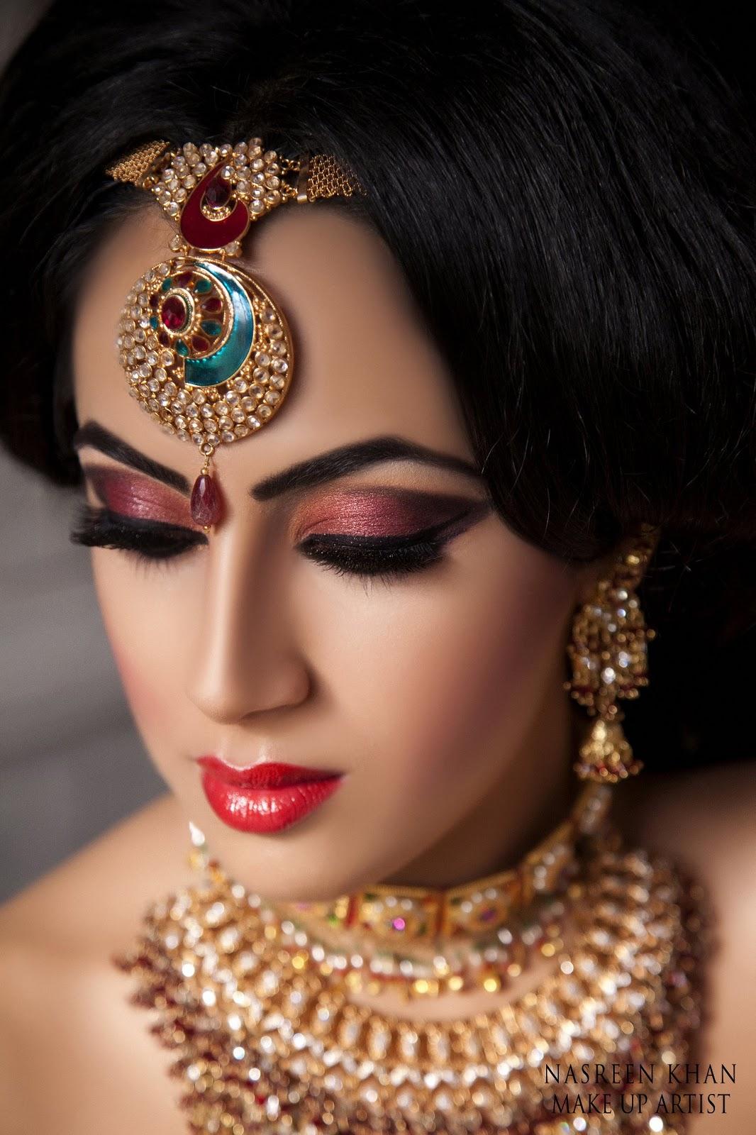 stunning bridal makeup by makeup artist nasreen khan | funmag