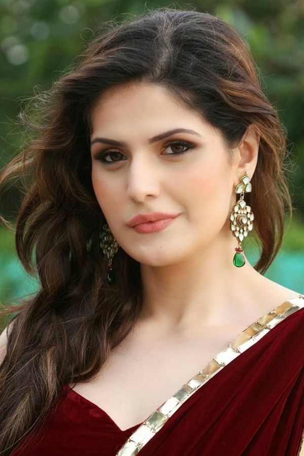 zarine-khan-in-maroon-saree- (1)