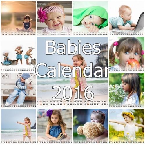 Cute Babies Calendar 2016