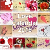 Beautiful Love Calendar 2016