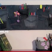 Handmade Decorative Organisers From Recycle Jeans
