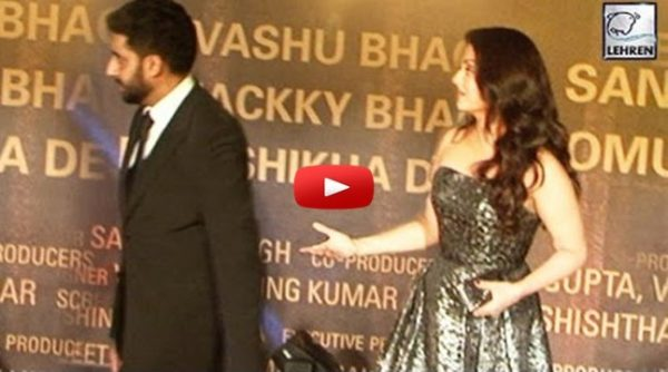 Abhishek Bachchan Treats Aishwarya BADLY At Sarbjit Red Carpet