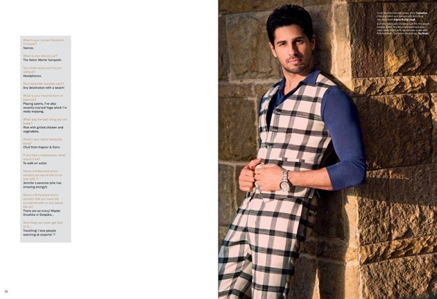 Sidharth Malhotra Photoshoot For Noblesse Magazine April 2016 | funmag ...