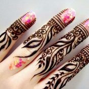 Beautiful Mehndi Designs For Fingers (47 Photos)