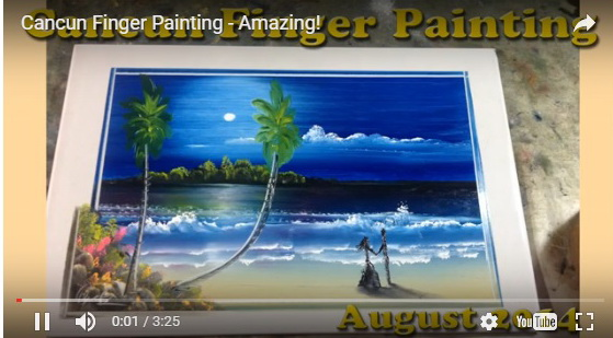 landscape-painting-on-tile-with-finger-