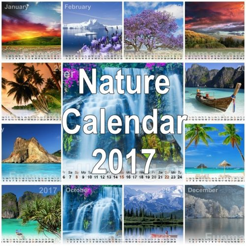 Best Nature Desktop Calendar 2017