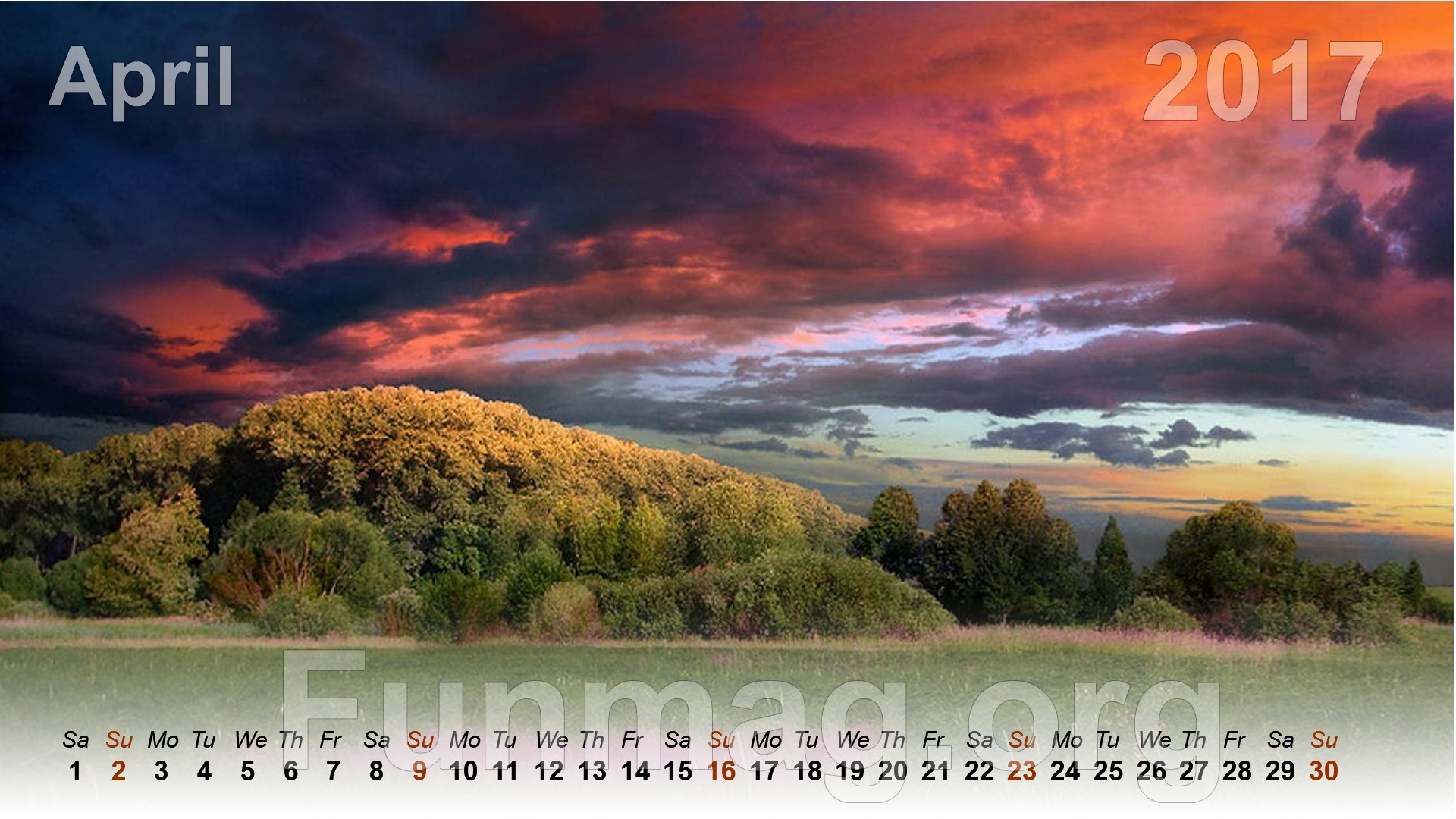 best nature desktop calendar 2017 | funmag