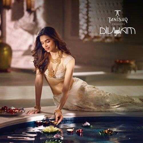 Deepika Padukone Photoshoot For Tanishq Jewelry