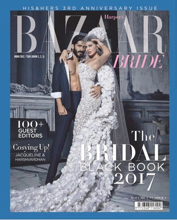 jacqueline-fernandez-and-harshvardhan-kapoor-photoshoot-for-harpers-bazaar-bride-february-2017- (4)