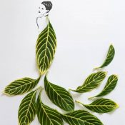 Creative Fashion In Leaf