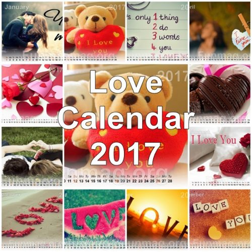 Beautiful Love Calendar 2017 For Desktop